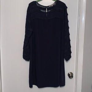 Loft Plus Sheer Sleeve Dress